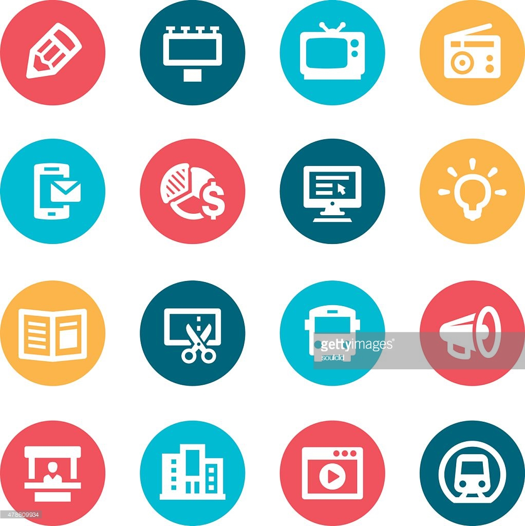 17 advertising icon packs - Vector icon packs - SVG, PSD, PNG, EPS