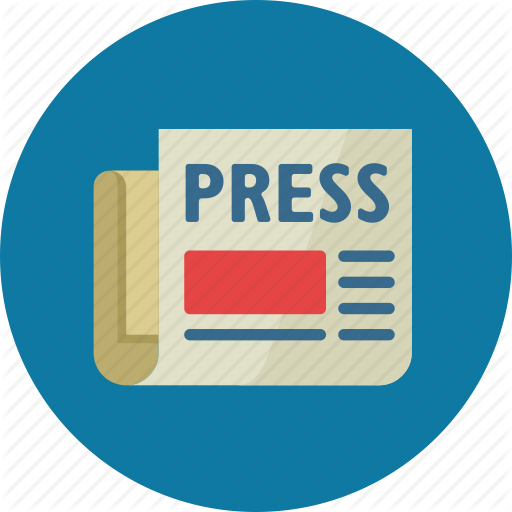 Thin Line Icon With Flat Design Element Of Abstract Newspaper