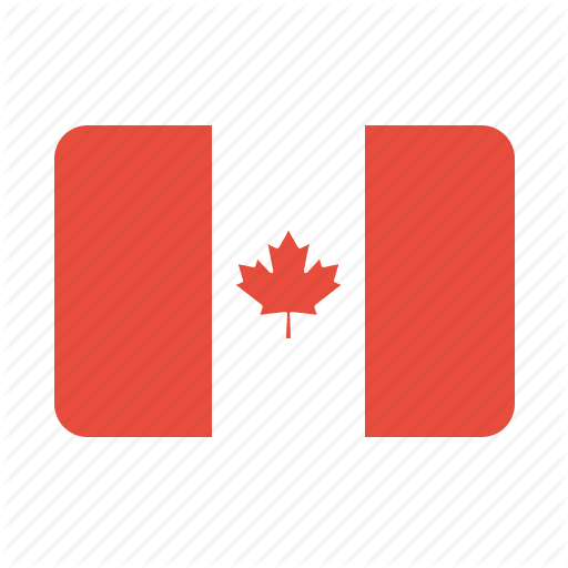 Two wavy flags. Illustration of flag of Canada