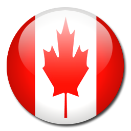 Sphere icon. Illustration of flag of Canada