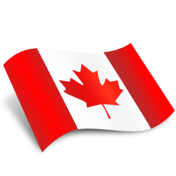 Glossy round icon. Illustration of flag of Canada