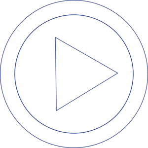 Play movie button with a triangle in a circle - Free controls icons