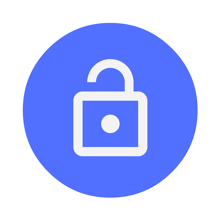 Lock,Padlock,Circle,Symbol,Icon,Electric blue,Computer icon,Security,Hardware accessory,Logo